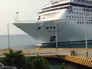 MSC Cruise Ship Crashes Into Dock in the Caribbean