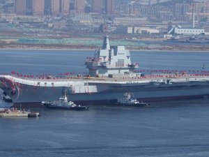 China's Secretive Home-Built Aircraft Carrier Sets Out for Sea Trials