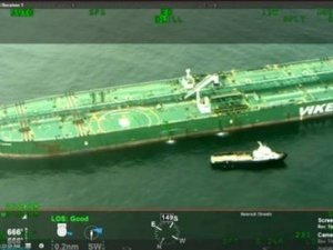 Tanker's Hull Gashed in Collision with Fishing Vessel Off New York