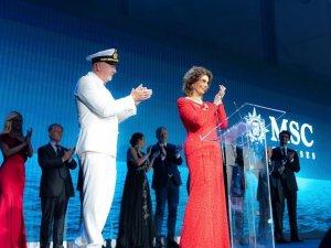 Sophia Loren Christens MSC Seaview