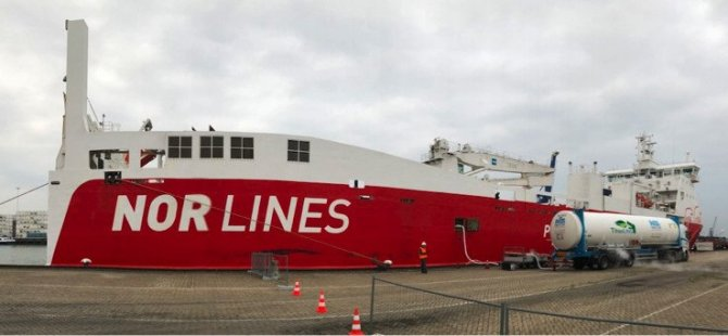 Nor Lines Cargo Vessels to Bunker with Titan LNG