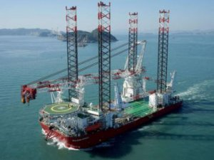 Giant wind farm installation jack-up ready for East Anglia ONE project