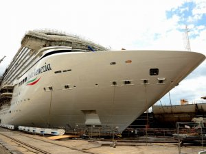 Cruise Ship Costa Venezia Floated Out