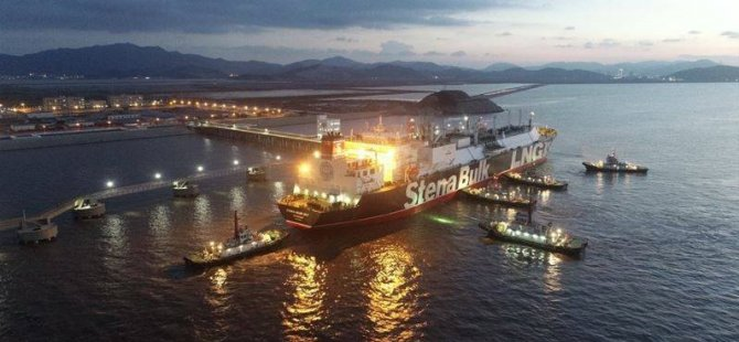 Stena Blue Sky Delivers First LNG Cargo in China