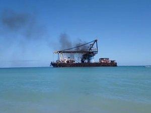 Crane Vessel Catches Fire off Ciudad del Carmen