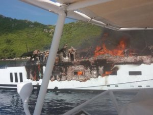 Fire Destroys Superyacht off Dubrovnik