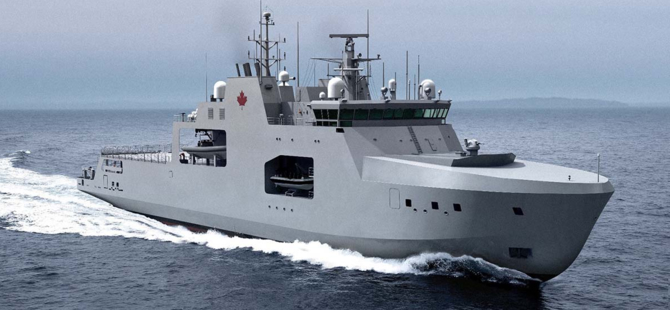 Canada's First New Arctic Patrol Vessel Launched