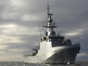 The Royal Navy Patrol Ship Escorted Russian Frigate