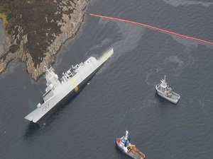 Frigate Ran Aground in Norway