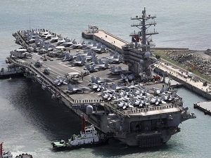 USS Ronald Reagan crashes into Philippine Sea