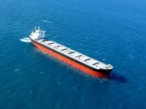 Capesize Bulk Carrier Resumed Sailing in Atlantic,