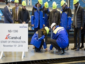 Steel-Cutting Ceremony for Carnival Cruise's Largest Ship