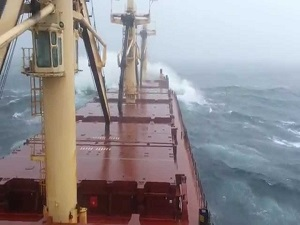 Bulker's Crew Managed to Halt Flooding During Severe Storm