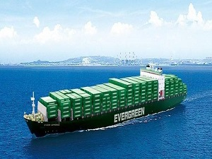 Evergreen Books 4 Feeder Vessels at Jiangnan Shipyard