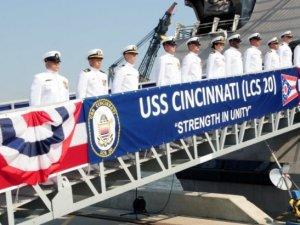 U.S. Navy Commissioned Littoral Combat Ship Cincinnati LCS 20