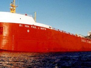 CSL ship RT. Hon.Paul.J. Martin grounded in St.Lawrence River