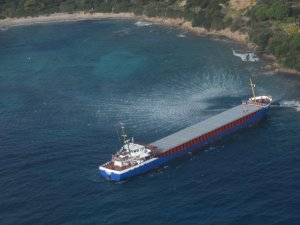 Freighter Runs Aground off Corsica, France