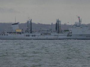 The command and replenishment ship Somme (A631) takes part at Corymbe Mission