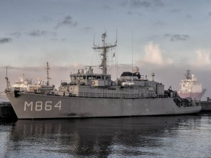 Belgian an Dutch Navies Training on Mine countermeasures vessels