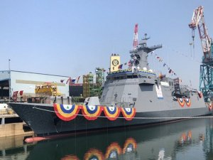 Hyundai Heavy Industries Launches second missile frigate for Philippine Navy