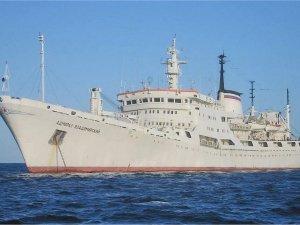 Russia's Admiral Vladimirsky ocean survey vessel undergoing trials in Baltic Sea