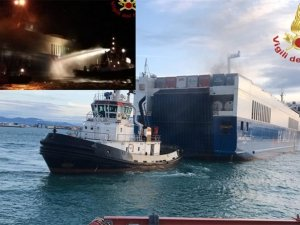 Grimaldi RoRo Ship Catches Fire off Italy