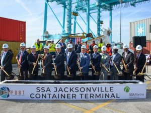 JAXPORT, SSA Marine Break Ground on New Container Terminal