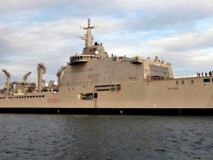 Italian Navy's Vulcano Logistic Support Ship Starts Sea Trials