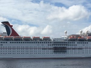 Carnival Cruise Ship Discharges Grey Water at Port Canaveral