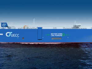 First Steel Cut for UECC's Next-Generation Battery Hybrid LNG Ship