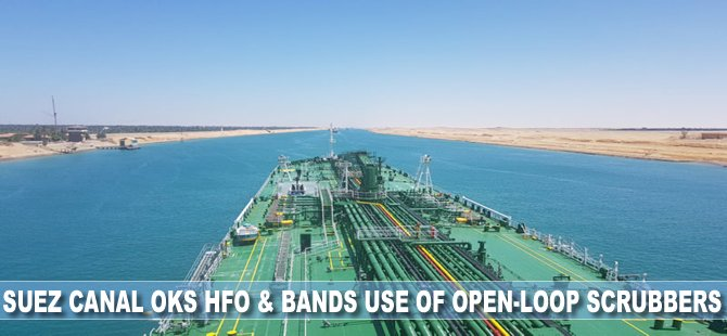 Suez Canal OKs HFO and Bans Use of Open-Loop Scrubbers