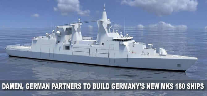 Damen, German partners to build Germany's New MKS 180 ships