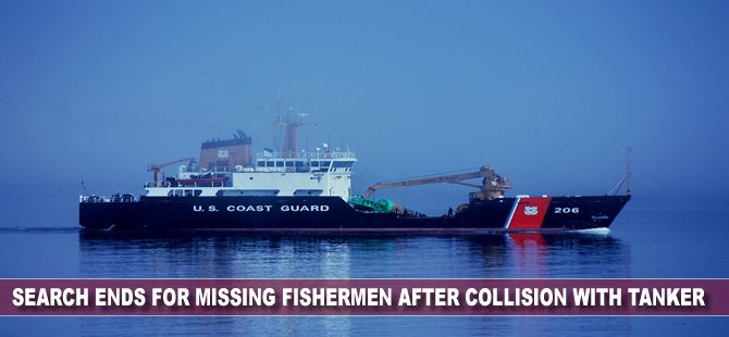 USCG: Search Ends for Missing Fishermen after Collision with Tanker