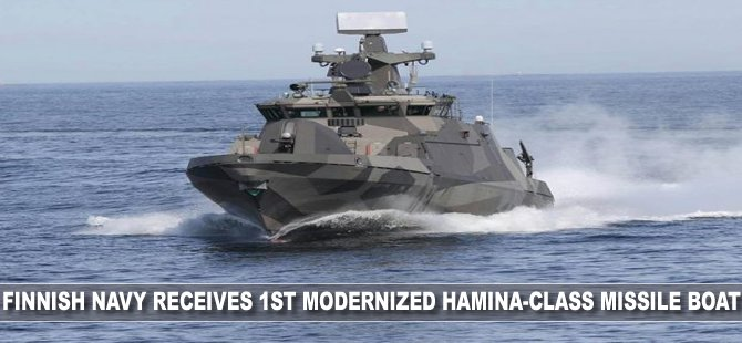 Finnish Navy receives 1st modernized Hamina-class missile boat