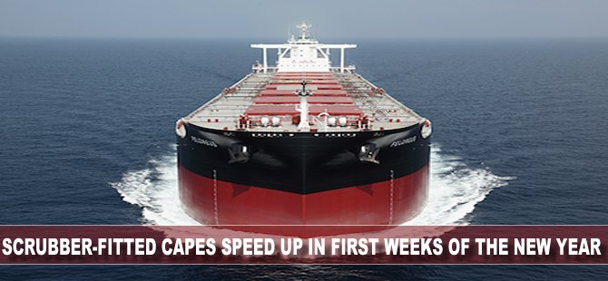Scrubber-fitted capes speed up in first weeks of the new year