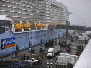 Passengers Scanned For Coronavirus on Cruise Ship in Bayonne, New Jersey