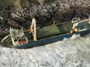 Marine Contractors Board Ghost Ship Grounded in Cork