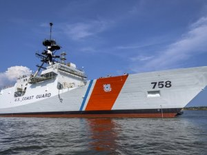 US National Security Cutter Stone (WMSL 758) Christened at Ingalls Shipbuilding