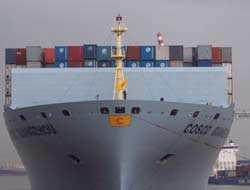 COSCO Asia's first 10000 TEU ship