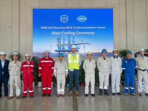 First steel cut for mega jack-up Voltaire