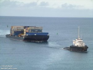 Hawaiian Barge Loses More Than 20 Containers Overboard Off Hilo
