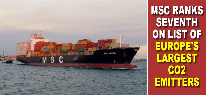Report: MSC Ranks Seventh on List of Europe's Largest CO2 Emitters