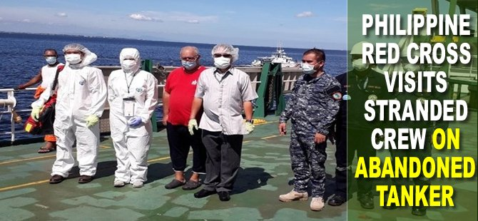 Philippine Red Cross Visits Stranded Crew on Abandoned Tanker