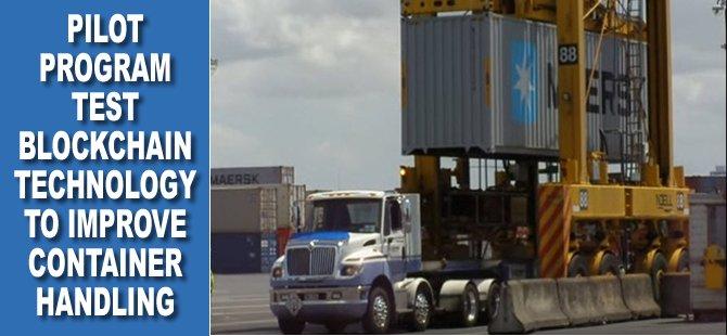 Pilot Program Test Blockchain Technology to Improve Container Handling