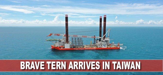Brave Tern arrives in Taiwan