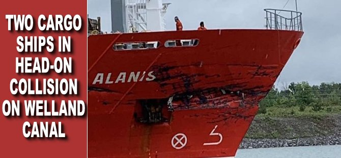 Video: Two Cargo Ships in Head-On Collision on Welland Canal