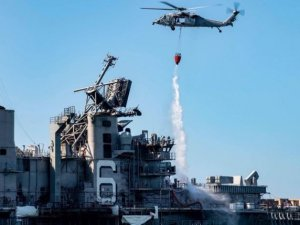 USS Bonhomme Richard Fire Burns On into Fourth Day