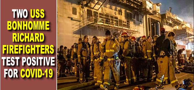 Two USS Bonhomme Richard Firefighters Test Positive for COVID-19