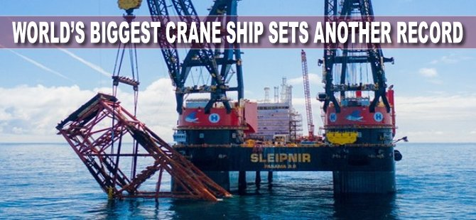 World's Biggest Crane Ship Sets Another Record