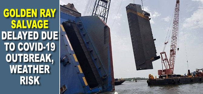 Golden Ray Salvage Delayed Due to COVID-19 Outbreak, Weather Risk